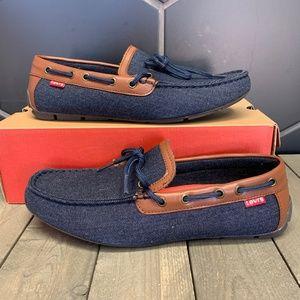 Levi's Benson Blue Denim II Flat Loafer Moccasins
